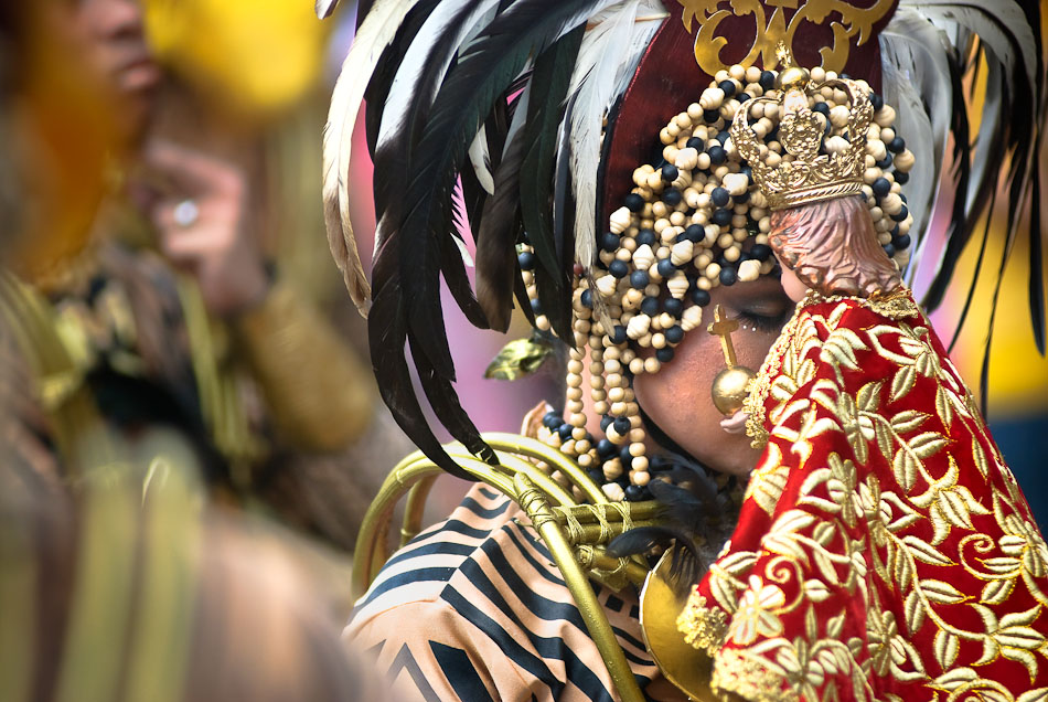 The Sinulog  festival is one of the grandest and most colorful festivals in the Philippines. The main festival is held each year on the third Sunday of January in Cebu City to honor the Santo Nino. The Sinulog is a dance ritual that commemorates the Filipino people's pagan past and their acceptance of Christianity.
