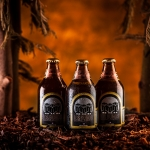 Some product images for the chilean beer, Los Buhos (The Owls)